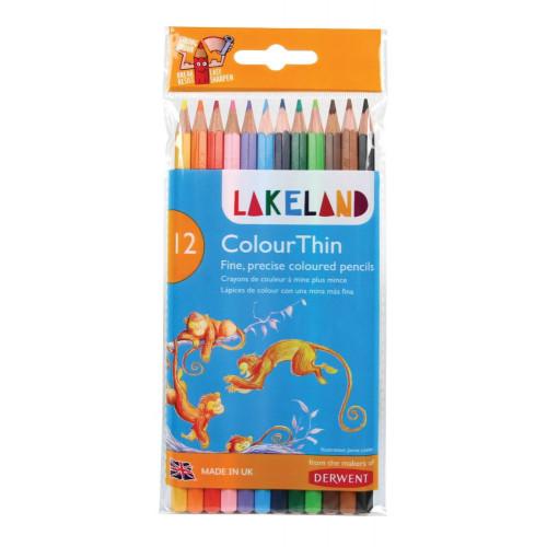 Lakeland Colourthin Pencil Pk12-Assorted