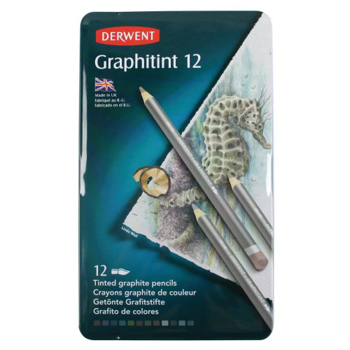 Derwent Graphitint Pencils Tin 12-Asstd