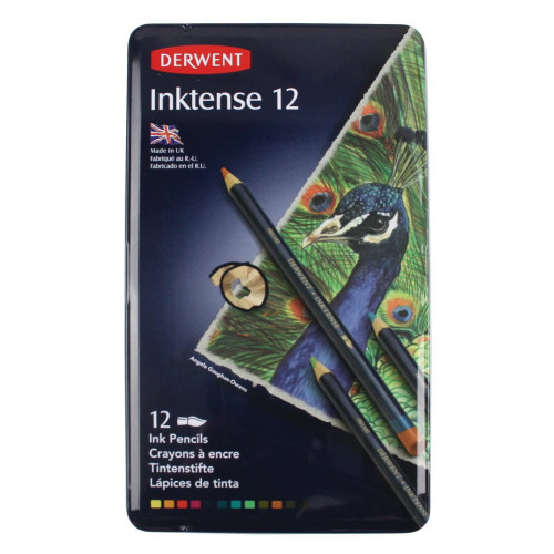 Derwent Inktense Pencil Tin 12-Assorted