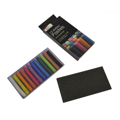 PK OF 12 ASTD ARTISTS PASTEL STICKS