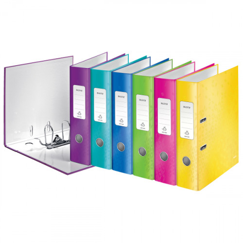 Leitz 180° WOW Lever Arch File A4 Assorted - Outer carton of 10