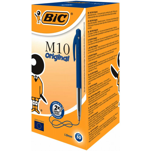 Bic M10 Original Medium Pk50 - Blue