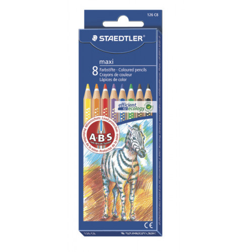 Staedtler Maxi Coloured Pencil Pk8