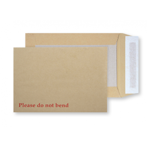 Manilla Board Backed Env P&S C4 Box125