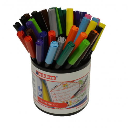 Edding Colourfine Pen Tub 42 Assorted
