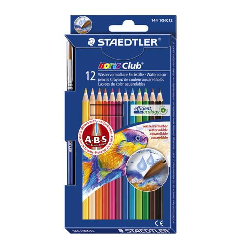 Noris Aquarell W/Colour Pencils Pk12