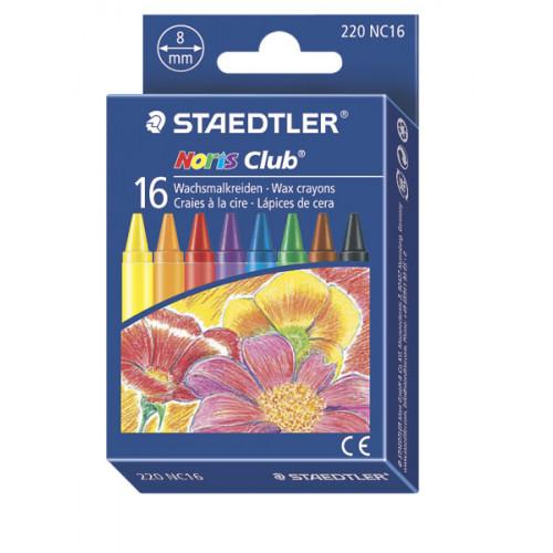 Noris Club Wax Crayons Pk16- Assorted