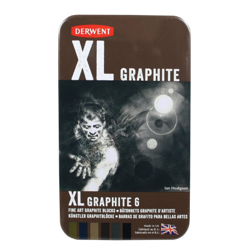 Derwent XL Graphite Blocks Tin 6-Asstd