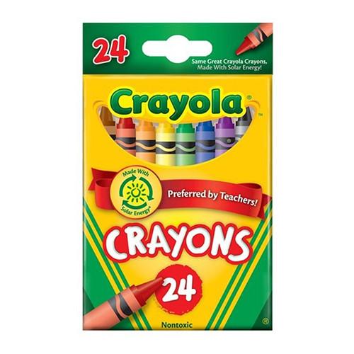 CRAYOLA STANDARD CRAYONS ASSORTED PK24