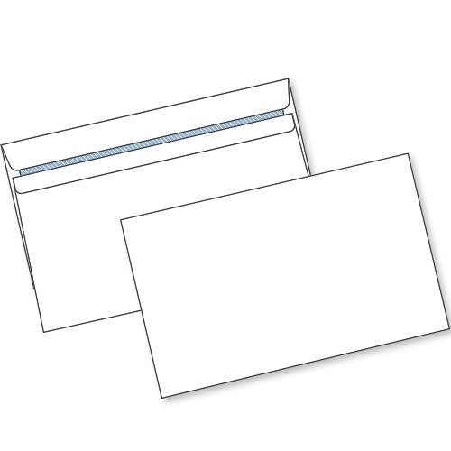 White Self Seal Env C6 90gsm Box1000