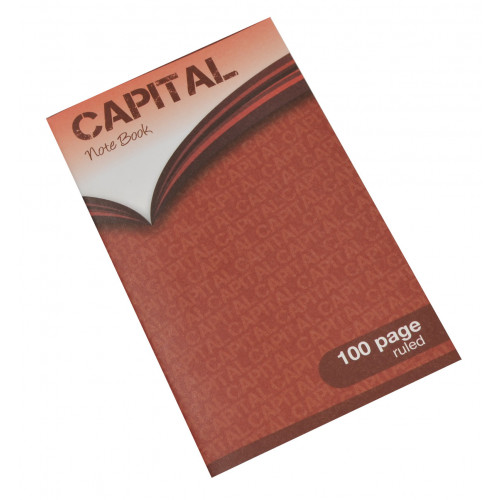 Capital Notebook 165x102 100p F7 Pk5