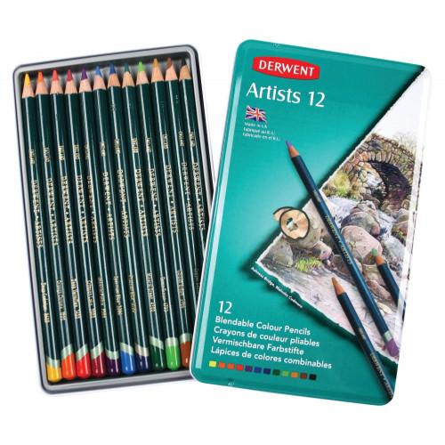 Derwent Artist Pencil Tin 12-Assorted