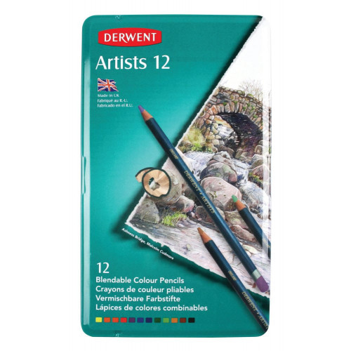 Derwent Artist Pencil Tin 12-Assorted
