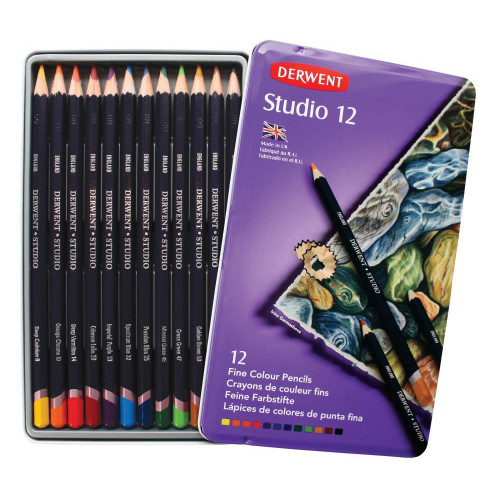 Derwent Studio Pencil Tin 12-Assorted