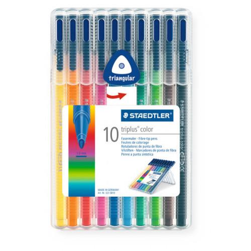 Triplus Colour Fibre Tips Pk10- Assorted