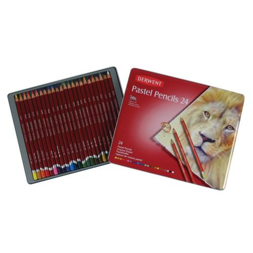 Derwent Pastel Pencil Tin 24-Assorted