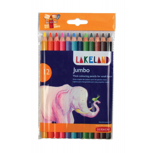 Lakeland Jumbo Pencil Pk12-Assorted