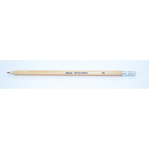 Rexel Blacklead Pencil & Eraser Pk144-HB
