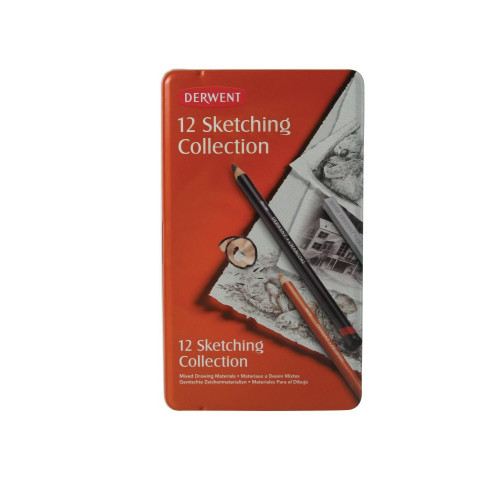Derwent Sketching Pencils Tin 12-Asstd