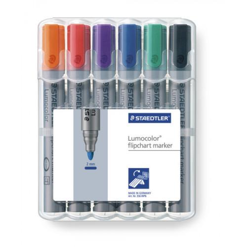 Lumocolour Flipchart Marker Pk6-Assorted
