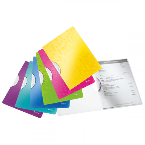 Leitz WOW ColorClip. Polypropylene. 30 sheet capacity. A4 - Outer carton of 10