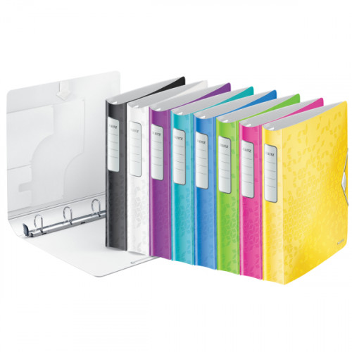 Leitz Active WOW SoftClick Ring Binder, 30 mm, 4 D Ring, A4 - Outer carton of 5