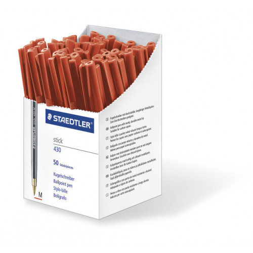 Staedtler Stick Medium Box 50 - Red