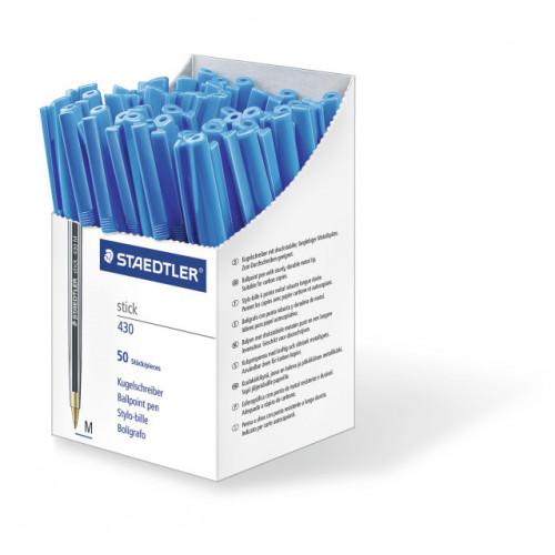 Staedtler Stick Medium Box 50 - Blue