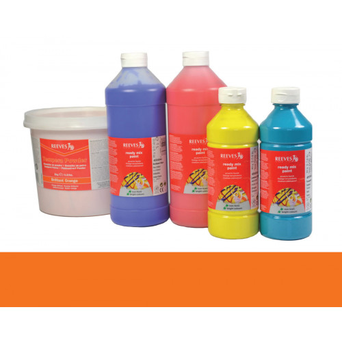 (D)Reeves Redimix Paint 1Lt Brill Orange