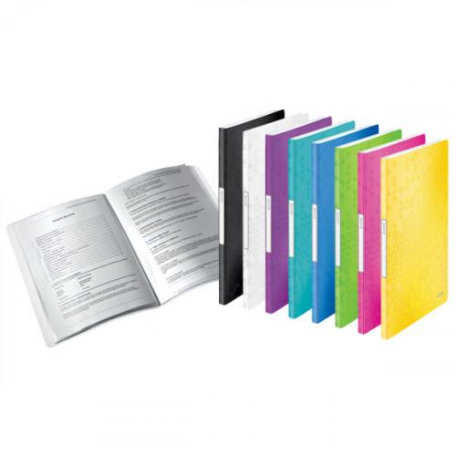 Leitz WOW Display Book Polypropylene. 20 pockets. 40 sheet capacity. A4 - Outer carton of 10