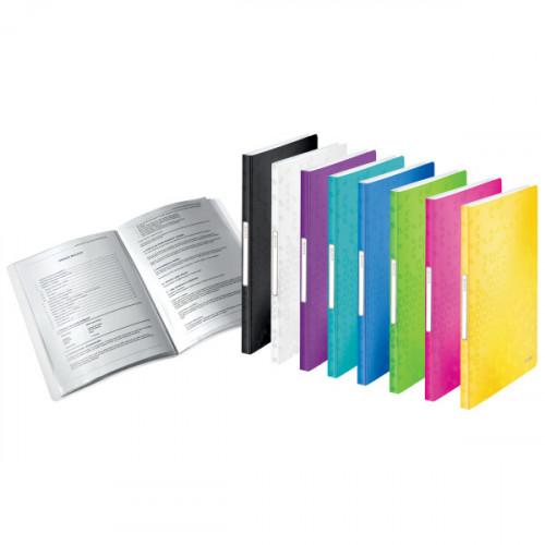 Leitz WOW Display Book Polypropylene. 40 pockets. 80 sheet capacity. A4 - Outer carton of 10