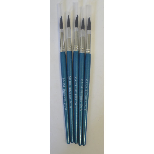 Soft Hair Brushes Pointed Size8 Pk5