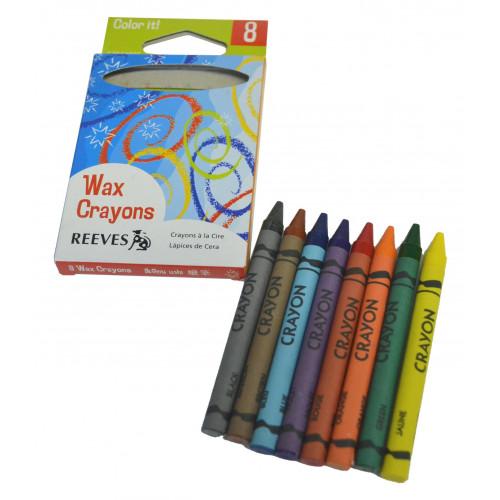 Reeves Standard Crayons Pk8 Assorted