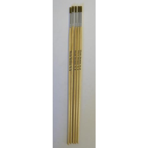 Golden Nylon Brushes Round Size2 Pk5