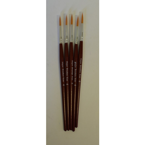 Sable Sub Brushes Pointed Size4 Pk5