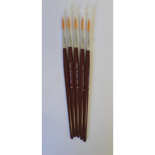 Sable Sub Brushes Pointed Size6 Pk5