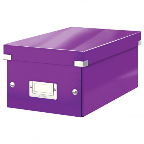 Leitz WOW Click & Store DVD Storage Box. With label holder