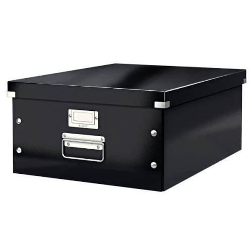 Leitz WOW Click & Store Large Storage Box.  With metal handles
