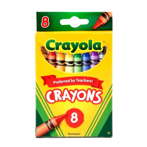CRAYOLA STANDARD CRAYONS ASSORTED PCK8