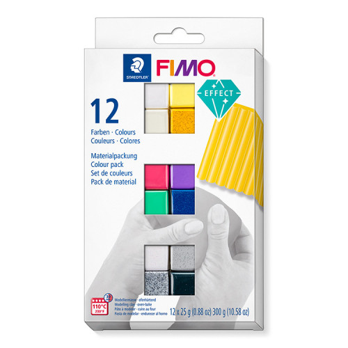 FIMO Effect Colour Half Blocks 25g - Pack of 12
