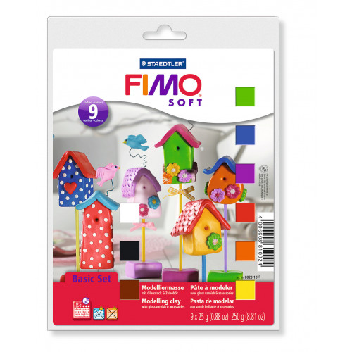 FIMO Basic Starter Set 12 items inc 9 Half Blocks 25g