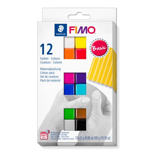 FIMO Soft Colour Pack Basic Half Blocks 25g