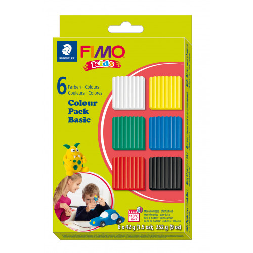 FIMO Colour Pack 42g - Pack of 6 Assorted