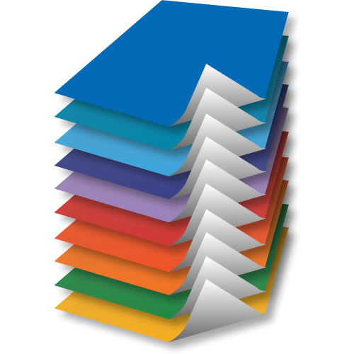 ASSORTED POSTER PAPER 510X760 PK100