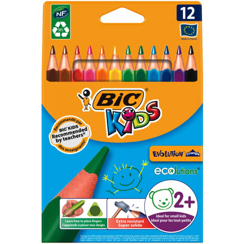 Bic Triangular Pencil Pk12-Asssorted