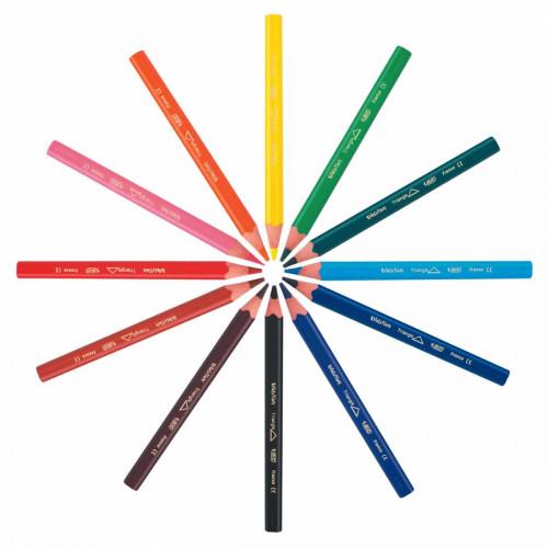 Bic Triangular Pencil Pk12-Asssorted