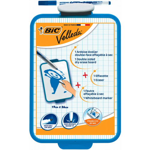 Bic Dry Wipe Board 19x29cm-Each