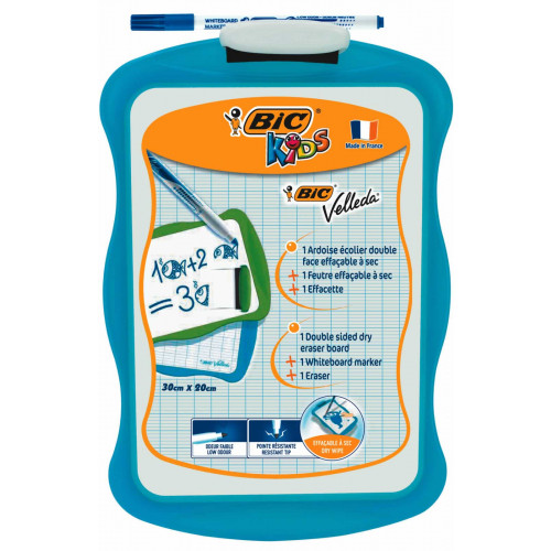 Bic Kids Dry Wipe Board 20x31cm-Each