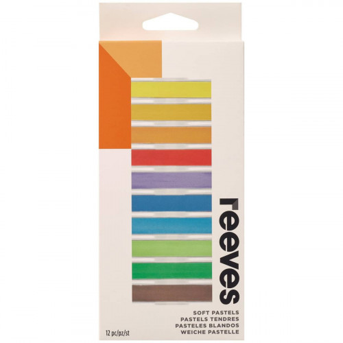 Reeves Standard Soft Pastels Assorted Colours - Pack of 12