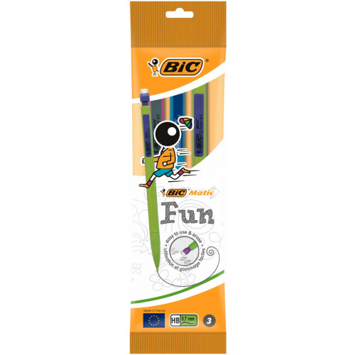 Bic Matic Fun Mechanical Pencil Pk3-HB